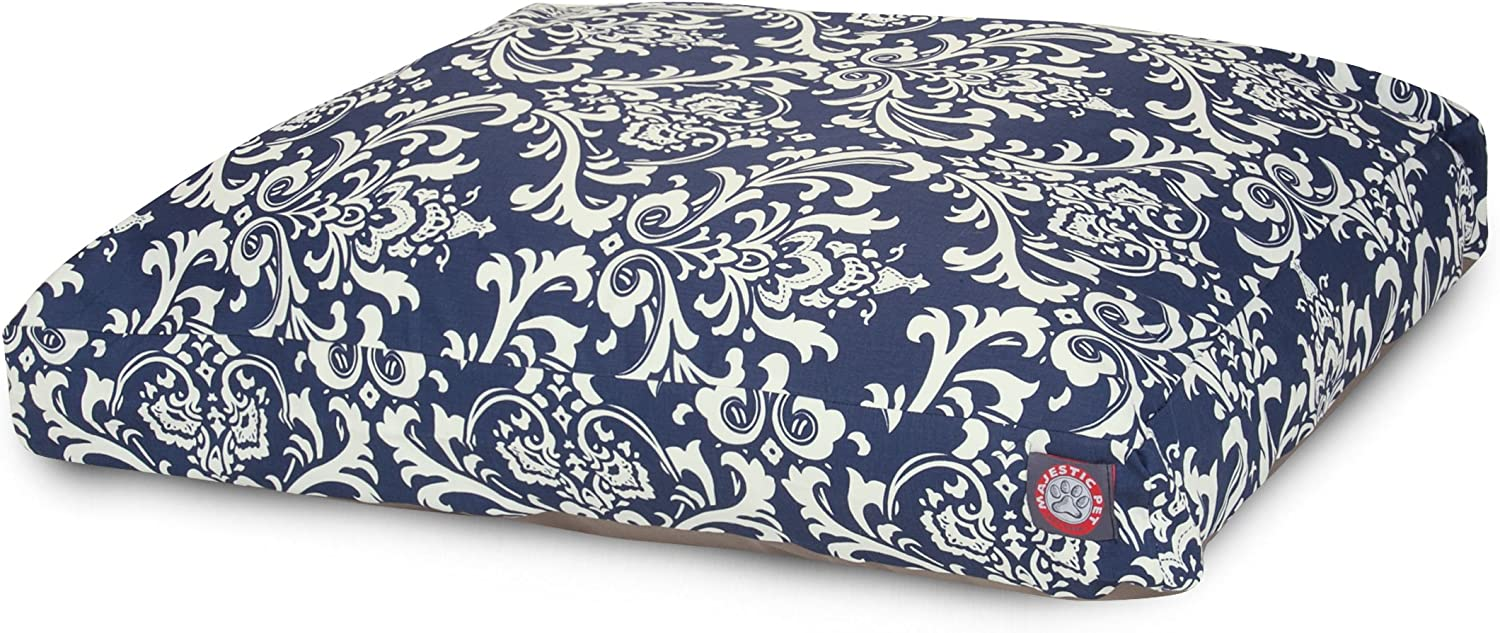 Navy bluee French Quarter Indoor Outdoor Pet Dog Bed with Removable Washable Cover by Majestic Pet Products