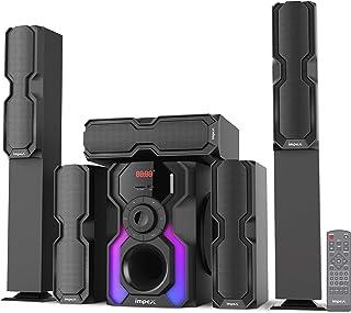 Impex Floor Standing Speaker Wired 110 Watt, Black, HT-5105-S