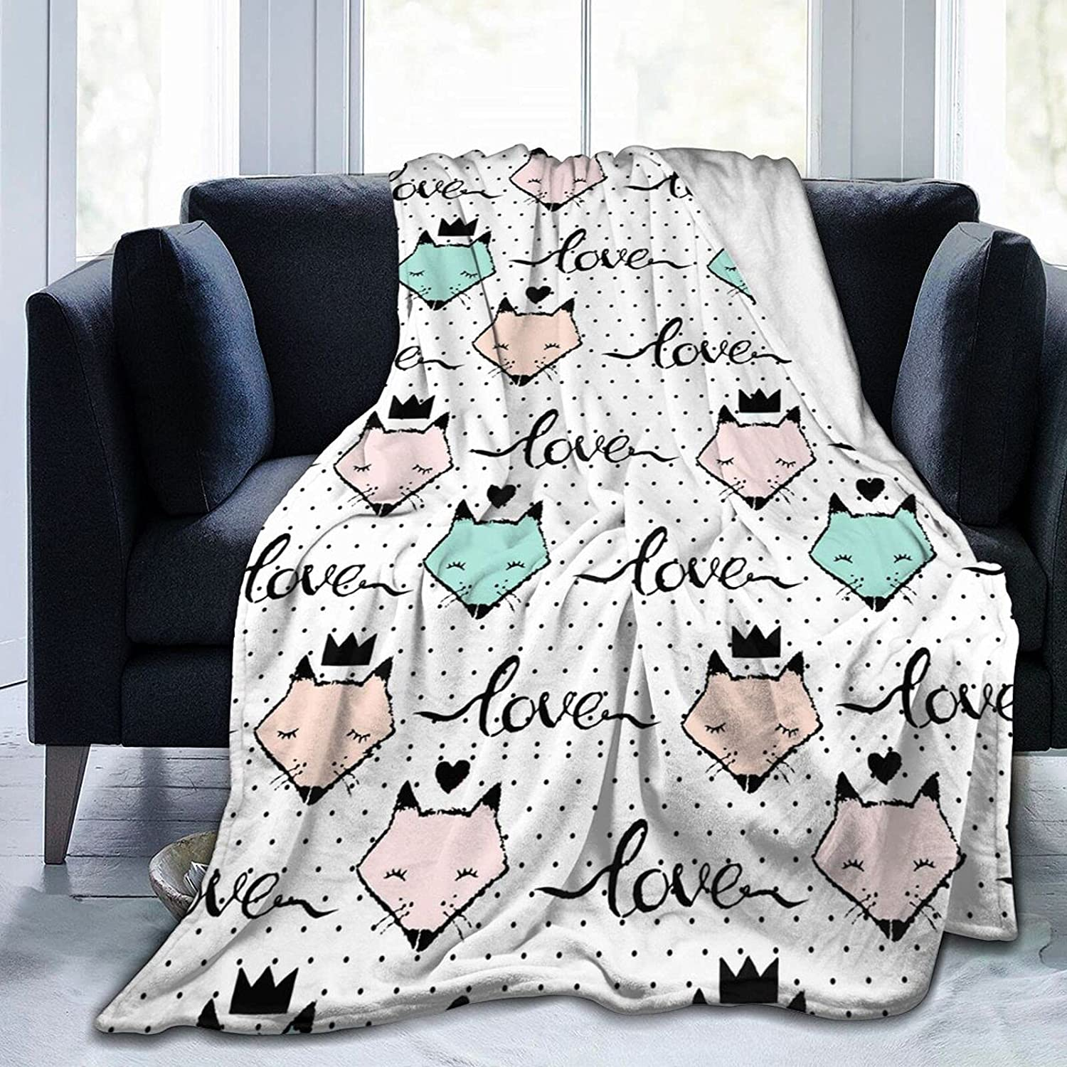 Cute Fox Isolated Flannel Blanket Comfortable Bombing free shipping favorite Soft Super Micro A