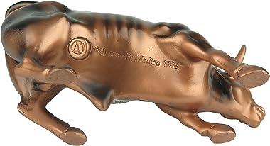 "Torkia Official Bronze Wall Street Bull Stock Market NYC Figurine Statue (Small 3.5"")"