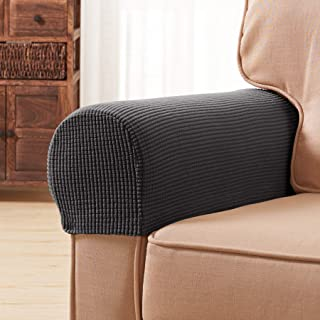 Subrtex Spandex Stretch Fabric Armrest Covers Anti-Slip Furniture Protector  Sofa Armchair Slipcovers for Recliner 014210bd1