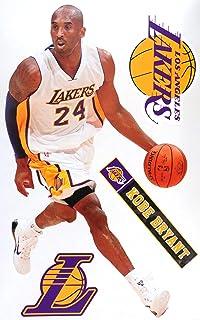 "Kobe Bryant FATHEAD Los Angeles Lakers Logo Set Official NBA Vinyl Wall Graphics 17"" INCH"