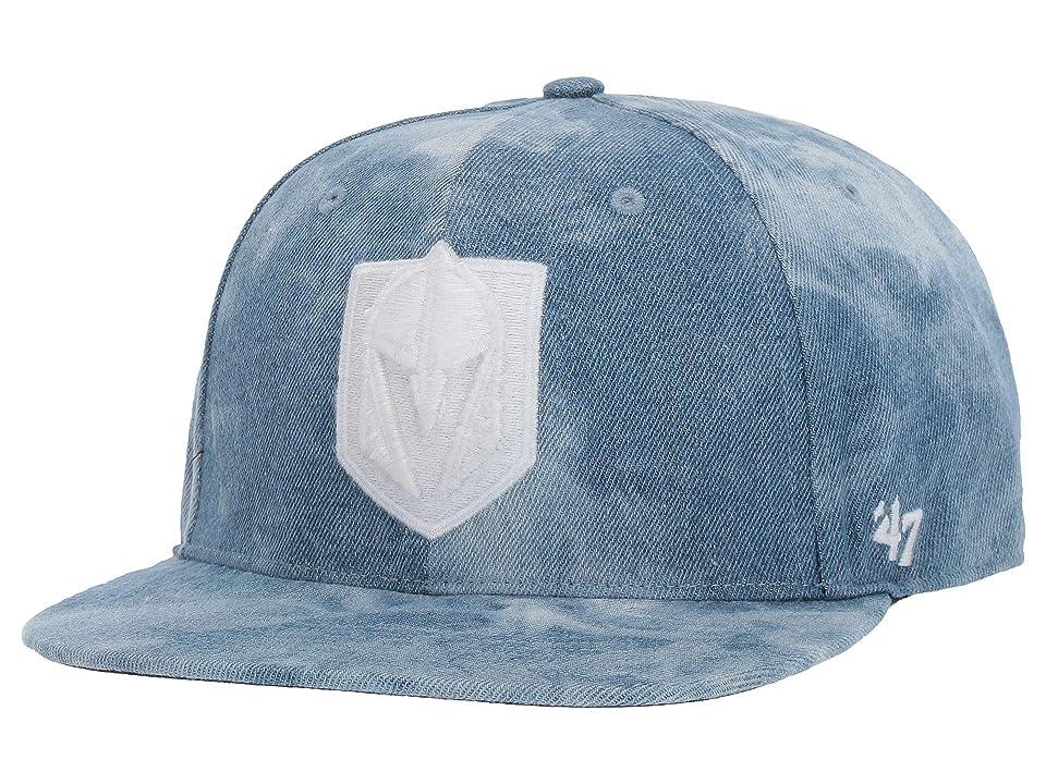 Image of '47 LV Golden Knights Denim Fray 47 Captain (Navy) Baseball Caps