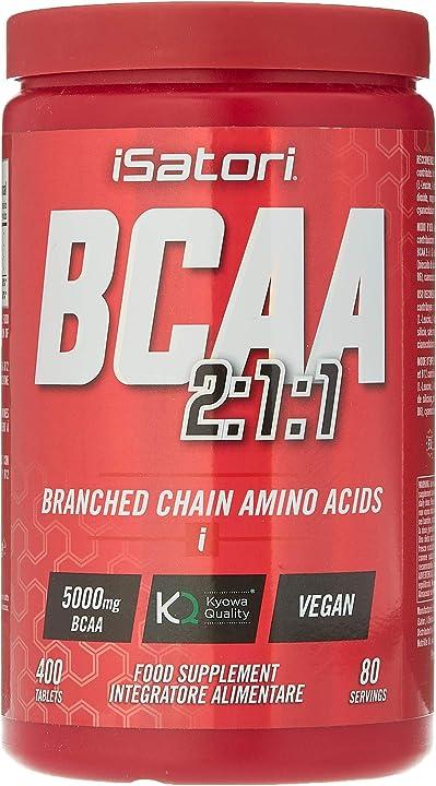 Integratore alimentare di aminoacidi ramificati con vitamina b6 e b12, 400 compresse - isatori IT25