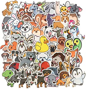 OBANGONG 200PCS Animal Stickers Large for Kids Cartoon Decorative Stickers Labels Waterproof Graffiti Stickers Used for Phone Skateboard Luggage Helmet Bike Child Birthday Present