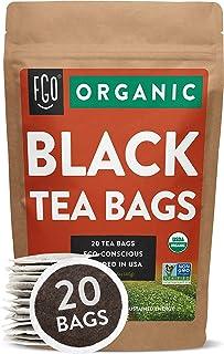 Sponsored Ad - Organic Black Tea Bags | 20 Tea Bags | Eco-Conscious Tea Bags in Kraft Bag | Raw from China | by FGO