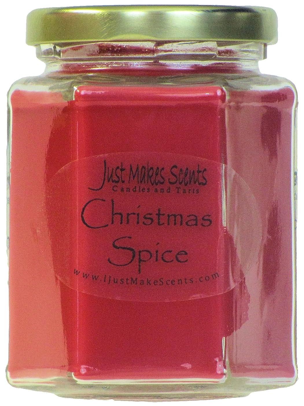 喜劇父方のポスト印象派クリスマスSpice香りつきBlended Soy Candle by Just Makes Scents 1 Candle レッド C02009HRDD