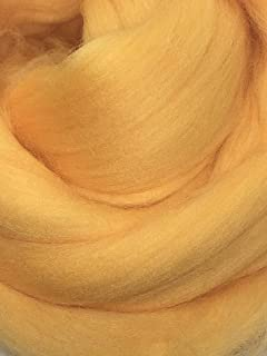 Shep's Wool, Peach Orange Wool Roving, 8lb Merino Wool Top Roving Fiber Spinning, Felting Wool, Wool Roving for Felting, Wool Roving for Spinning, Weaving Wool, Fiber Art