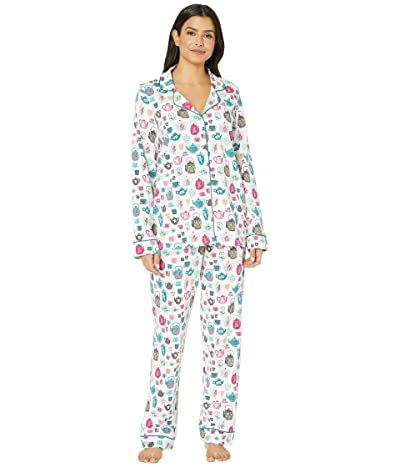 BedHead Pajamas Long Sleeve Classic Notch Collar Pajama Set (Drink Me) Women