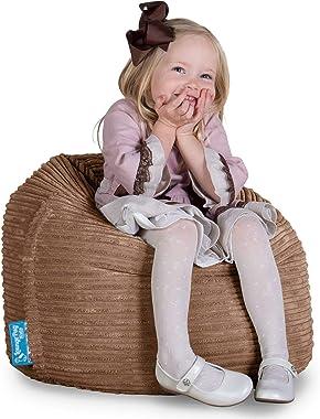 Lounge Pug®, Pouf Enfant, Chaise Enfant, Poire Pouf, Côtelé Sable