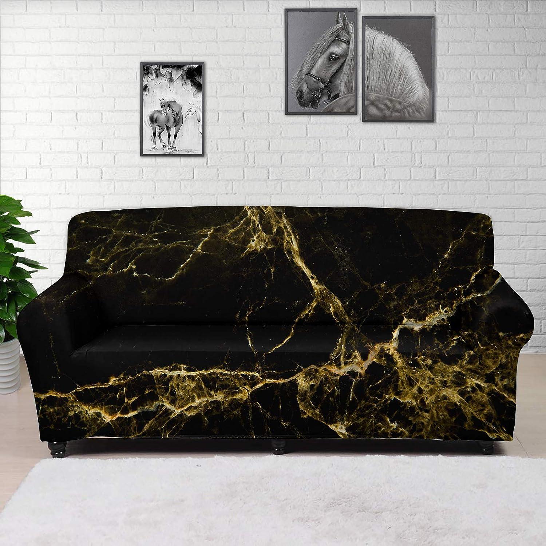 希少 JOAIFO Black Marble Print Sofa Slipcovers Breathable Fitted Furn 人気の製品