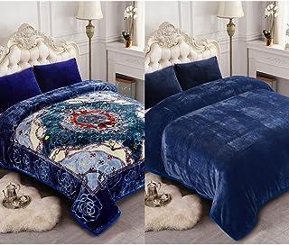 JML Heavy Blanket, Korean Fleece Blanket – Plush Soft Warm 2 Ply Printed Raschel..