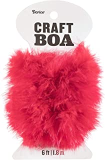 Darice 30061280 Red Craft 2 Yards Feather Boa,