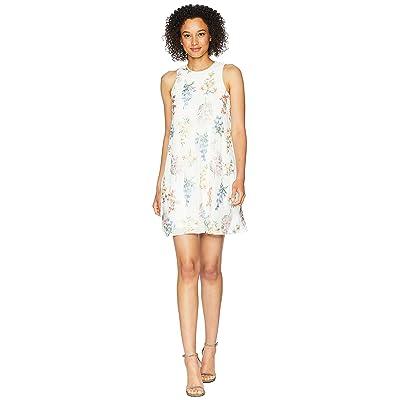 Calvin Klein Embroidered Trapeze Dress CD8H87NJ (White Multi) Women