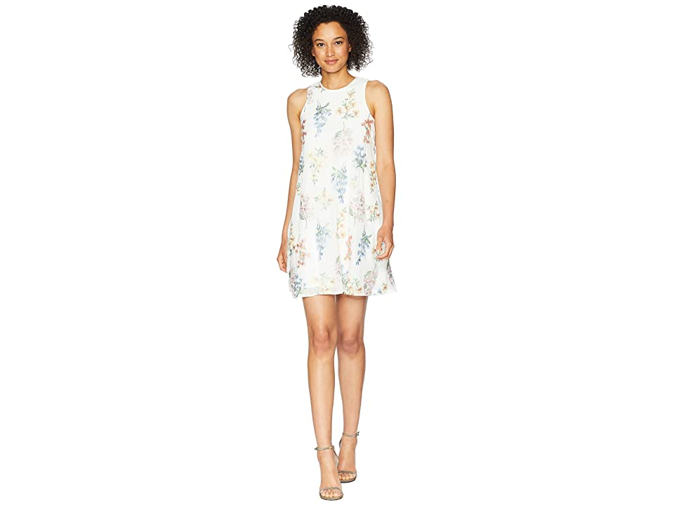 Calvin Klein Embroidered Trapeze Dress CD8H87NJ (White Multi) Women