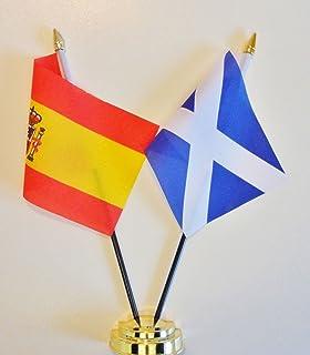"""Spanje en Tenerife Vriendschap Tafelvlag Display 25cm (10"""")"""