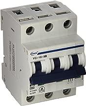Yc-10-3B Yuco Din Rail Miniature Circuit Breaker 3P 10A B Curve 277/480V 50/60Hz Tuv Ul 1077 European Design Csa C22.2