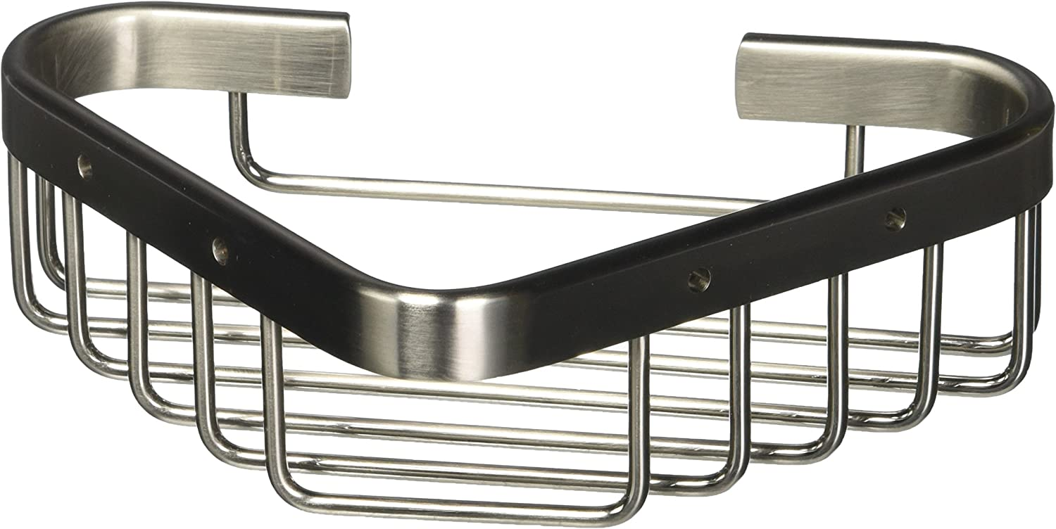 Allied Brass BSK-10ST-SN Corner Soap Basket, Satin Nickel