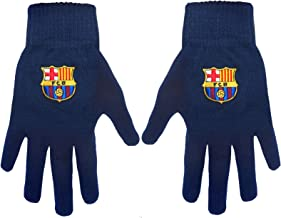 FC Barcelona Authentic Navy Knitted Gloves Jr/Sr