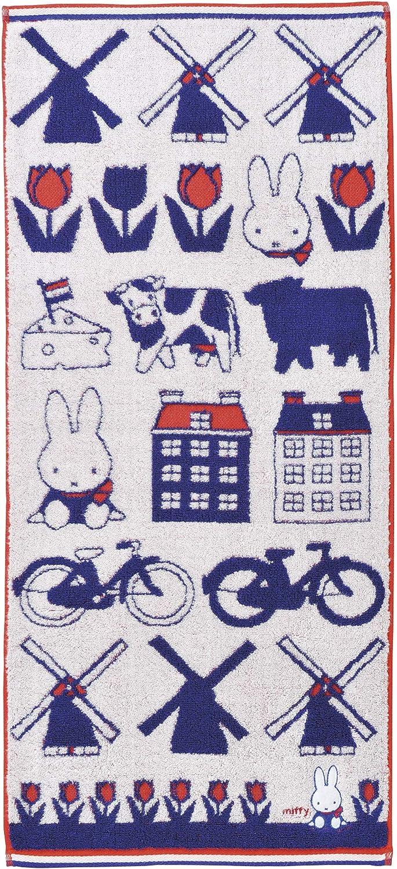 流行のアイテム 新品 face towel Miffy 34 x 80cm 5805013800 cotton 100% motif Dutch