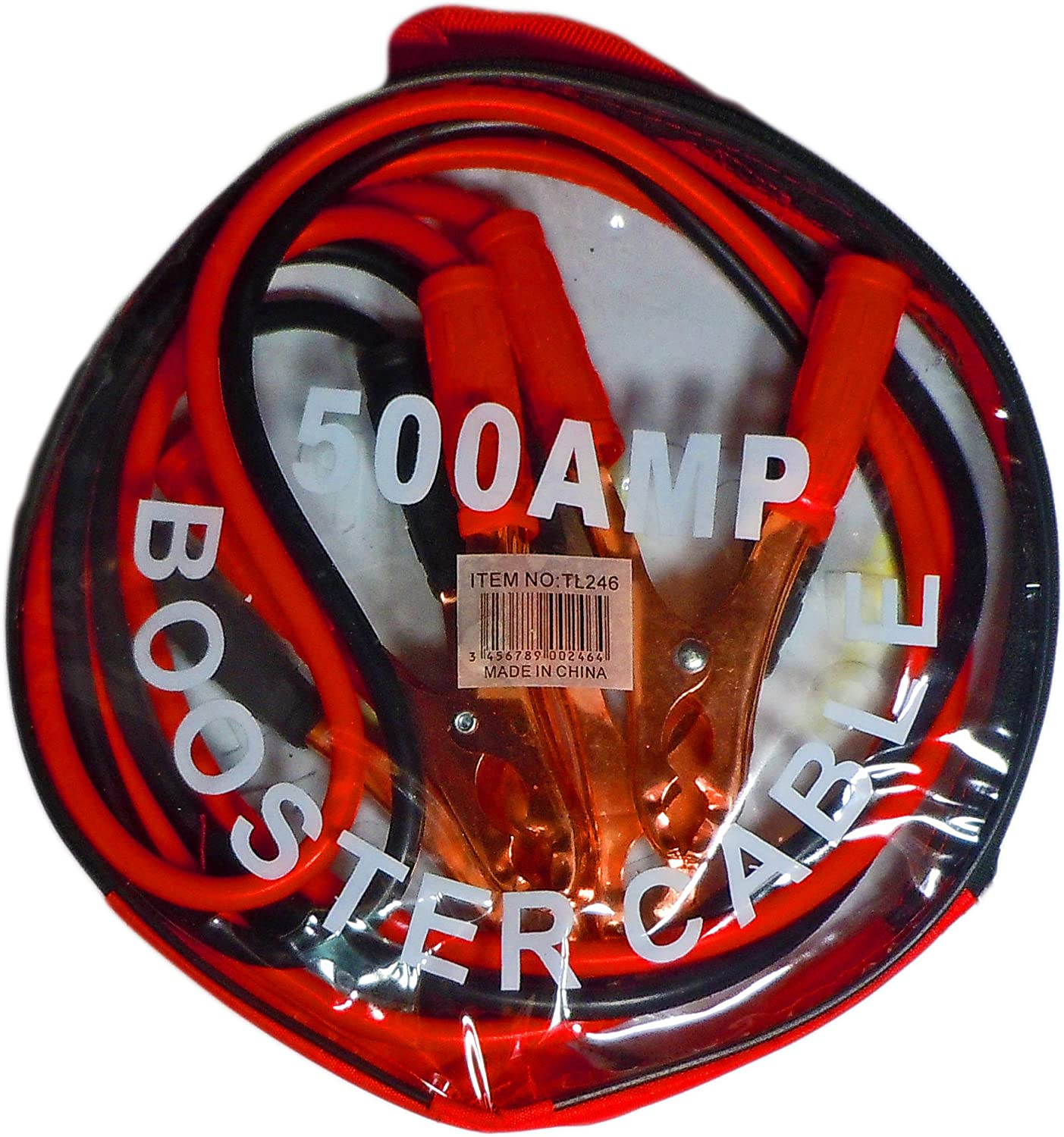 Vehicle Jumper Battery Cable 500 Chicago Mall AMP 7 Financial sales sale Includes Travel Feet- C