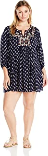 Angie Women's Plus Size Mirror Embroidered Dress