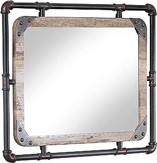 247SHOPATHOME  Wall Mirror, Black