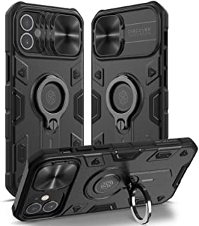 Nillkin Compatible with Case iPhone 12 Mini 5.4 inch - Military Grade Case with Kickstand Ring Stand and Slide Camera Cove...
