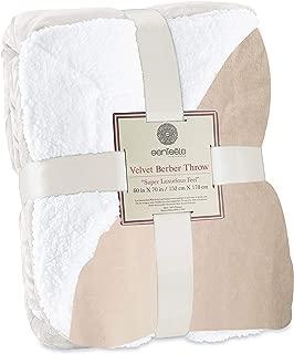 Genteele Sherpa Throw Blanket Super Soft Reversible Ultra Luxurious Plush Blanket (60