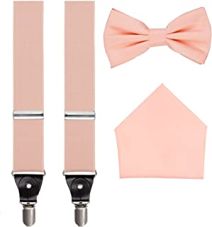 Suspenders, Bow Tie and Pocket Hanky Set