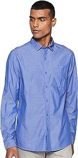John Miller Men's Solid Slim fit Casual Shirt