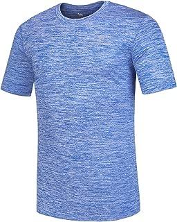 CAMEL CROWN Men's T-Shirts Short-Sleeve Moisture Wicking Athletic Tshirt Training Gym Tee Workout Shirts Plain