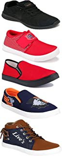 Shoefly Sports Running Shoes/Casual/Sneakers/Loafers Shoes for Men&Boys (Combo-(5)-1219-1221-1140-472-678)
