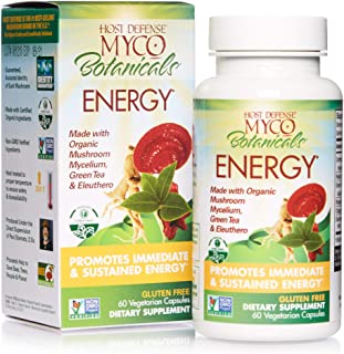 Host Defense, MycoBotanicals Energy, Promotes Immediate and Sustained Energy, Daily Mushrooms and Herb Supplement with Rei...