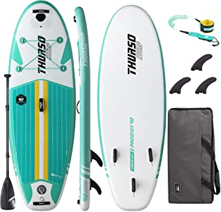 THURSO SURF Prodigy Junior Kids Inflatable SUP Stand Up Paddle Board 7'6 x 30'' x 4'' Two Layer Includes Adjustable Carbon...