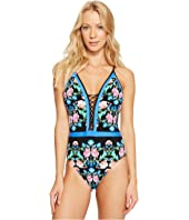 Nanette Lepore - Damask Floral Goddess One-Piece