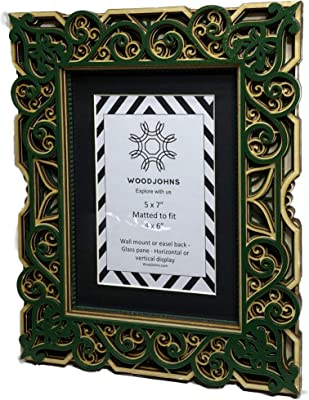 Lawrence 8x10 Emerald Green /& Gold Picture Frame Same Shipping Any Qty
