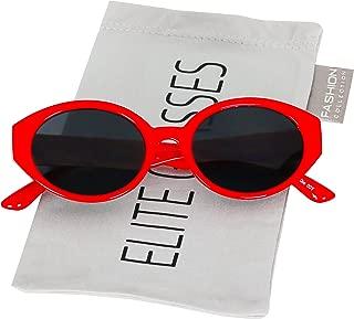 Elegant Retro Oval Mod Cat Eye Women Vintage Clout Goggles Supreme Cool Sunglasses
