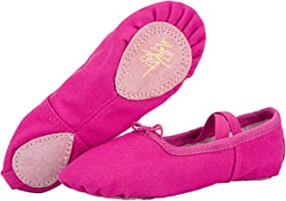 WOBAOS Ballet Slippers Dance Gymnastics Yoga Shoes Flats for Girls(Women/Big Kid/Little Kid/Toddler)