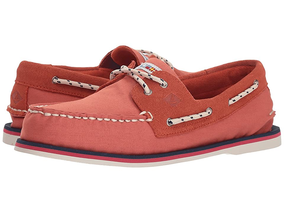 Sperry A/O 2-Eye Nautical Canvas (Red) Men