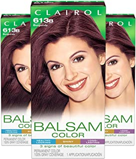 Clairol Balsam Permanent Hair Color, 613b Burgundy, 3 Count