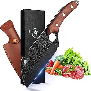 Couteau à Désosser Japonais Couteau Viking Couteau Cuisine Acier Carboné Coupant Couteau de Boucher Professionnel Couteau ...