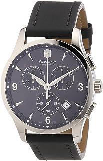 Victorinox - Swiss Army - Reloj cronógrafo de Cuarzo para Hombre con Correa de Piel, Color Beige
