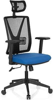 hjh OFFICE 731406 silla de escritorio CARLOW PRO tejido de malla azul silla de oficina silla