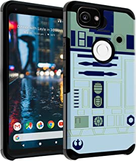 Google Pixel 2 XL Case, DURARMOR Star Wars R2D2 Astromech Droid Robot Dual Layer Hybrid Case ShockProof Slim Fit Armor Drop Protection Cover for Google Pixel 2 XL (2017), R2D2