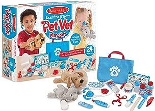 Melissa & Doug Examine & Treat Pet Vet: Playset + 1 Scratch Art Mini-Pad Bundle (#08520)
