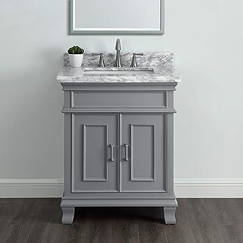 Amazon Com 26 Contemporary Style Single Sink Bathroom Vanity Model 2273 Sc Kitchen Dining