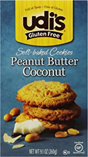 Udi's Gluten Free Soft-Baked Peanut Butter Coconut Cookies, 9.1 Ounce