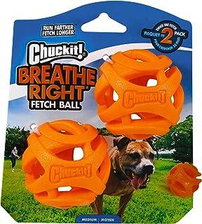 Chuckit! 32141 Breathe Right Fetch Ball Medium - 2 Pack, Orange