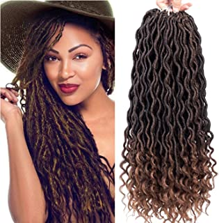 Karida 6Pcs/Lot Curly Faux Locs Crochet Hair Deep Wave Braiding Hair With Curly Ends..